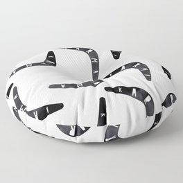 Karma / poster, boomerang, art print, pictures, scandinavian, nursery, deco, family, saying, christm Floor Pillow