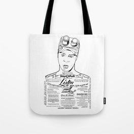 Dan Aykroyd Tattooe'd Ghostbuster Ray Stantz Tote Bag