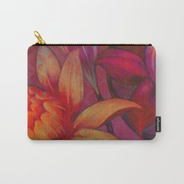 """""""Retro Giant Floral Pattern"""" Carry-All Pouch"""