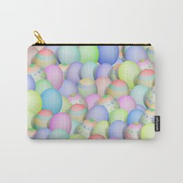 Pastel Colored Easter Eggs Carry-All Pouch