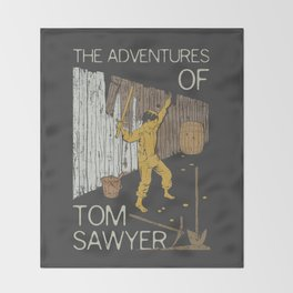 Books Collection: Tom Sawyer Throw Blanket