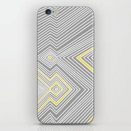 White, Yellow, and Gray Lines - Illusion iPhone Skin