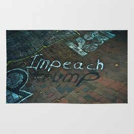 Spray paint: Impeach Trump Rug