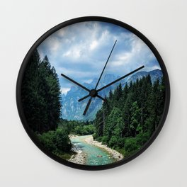 Wood as a chance of existence Wall Clock