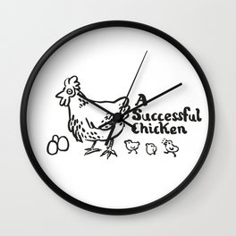 another successful chicken Wall Clock
