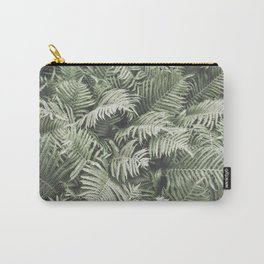 Fern Pattern Dull Green Print Carry-All Pouch