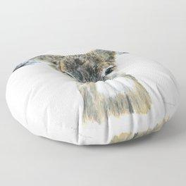 Doe Eyes by Teresa Thompson Floor Pillow