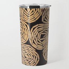 Wood planks texture Travel Mug