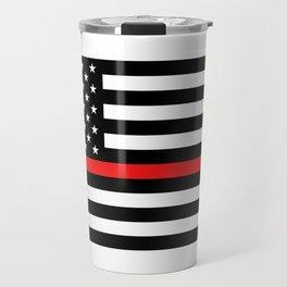 Firefighter: Black Flag & Red Line Travel Mug
