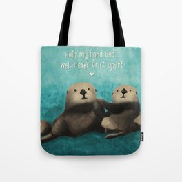 Sea Otters in Love Tote Bag