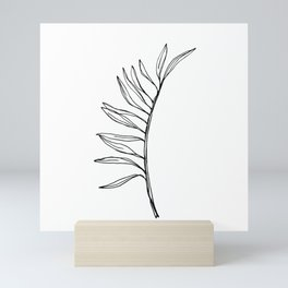 Continuous Line Drawing Botanical Palm Leaf Mini Art Print