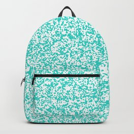 Tiny Spots - White and Turquoise Backpack