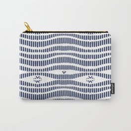 Indigo Pattern - Indigo / Navy & White Carry-All Pouch