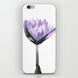Purple Water Lily in Watercolor iPhone Skin