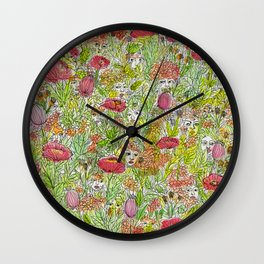 Colorful Nymphs Wall Clock