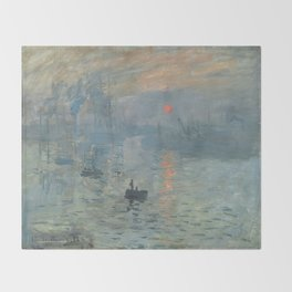 Claude Monet's Impression, Soleil Levant Throw Blanket