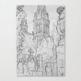 Quick Sketch - Prague, 22. Canvas Print