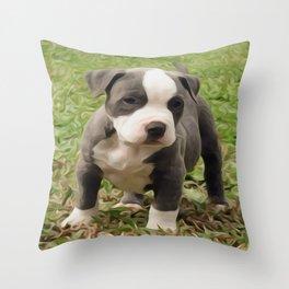 Pit Bull Puppy Throw Pillow