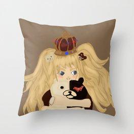 junko and monobear Throw Pillow
