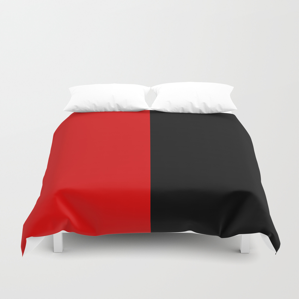 Psychedelic Black And Red Stripes Vii. Duvet Cover by Azraelwest DUV9053204
