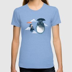 The Perfect Neighbor LARGE Tri-Blue Womens Fitted Tee