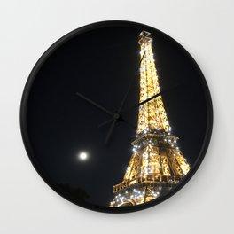 Paris, France - Eiffel Tower Wall Clock