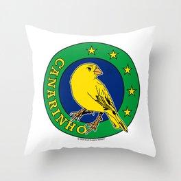 Brasil Canarinho (Little Canary) ~Group E~ Throw Pillow