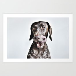 Gus Tongue out Art Print