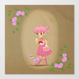 Retro Sailor Chibi Moon Canvas Print