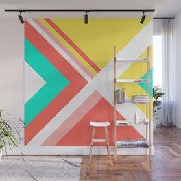 Living Coral - Minimal Geometric Pattern 2 Wall Mural