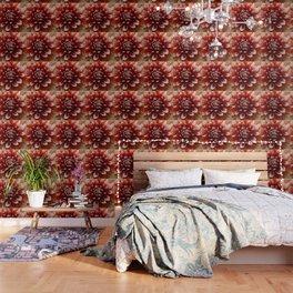 Cognac-Colored Dahlia Wallpaper