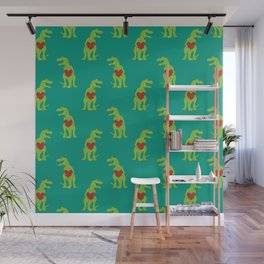 T-rex Love Wall Mural