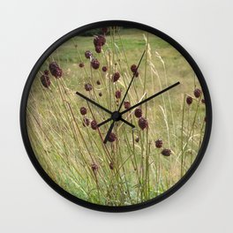 French Meadow Nature Wall Clock
