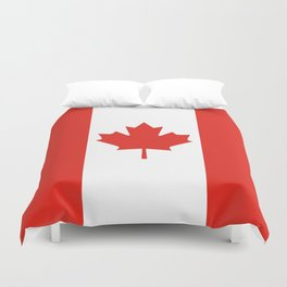 Red and White Canadian Flag Duvet Cover