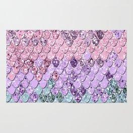 Mermaid Scales with Unicorn Girls Glitter #1 #shiny #pastel #decor #art #society6 Rug