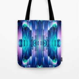 Cavernous Glitch - Abstract Pixel Art Tote Bag