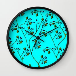 Blackberries and a Robin Wall Clock