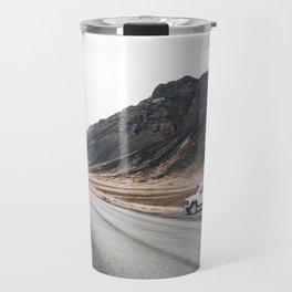 Hitting an icelandic Road Travel Mug