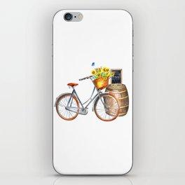 Sunflower Bicycle iPhone Skin