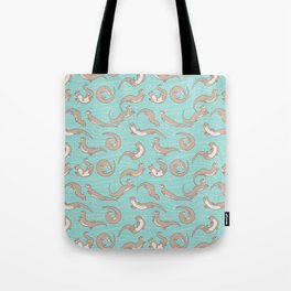 Swimming Otters Tote Bag
