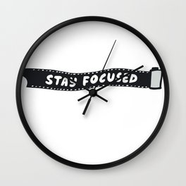 Stay Focused 35mm Camera Film Wall Clock