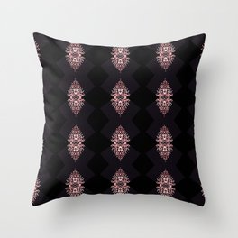 Diamonds on black diamonds Throw Pillow