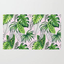 tropical marker pink pattern Rug
