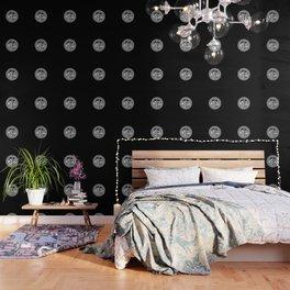 LUCCINI SHUROD CREST LOGO CIRCLE (BLK) Wallpaper