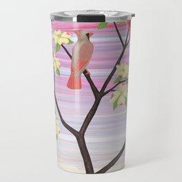cardinals and dogwood blossoms Travel Mug