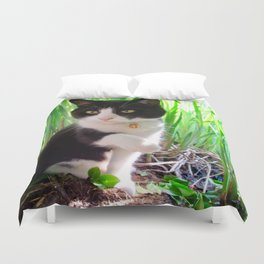 Orazio and the princess frog Duvet Cover