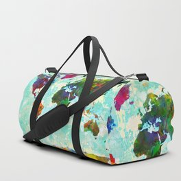 Abstract Map of the World Duffle Bag
