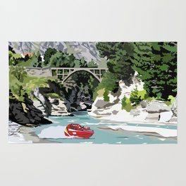 Shotover River, Queenstown, New Zealand Rug