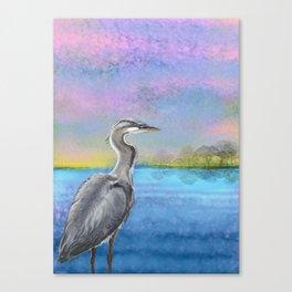 Great Blue Lake Canvas Print