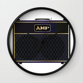 Electric Guitar Amplifier Wall Clock